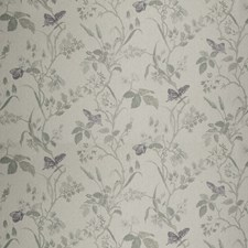 Cool Fog Floral Decorator Fabric by Vervain