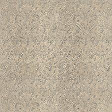 Gilded Sterling Damask Decorator Fabric by Vervain