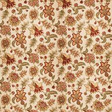 Persimmon Jacobean Decorator Fabric by Fabricut