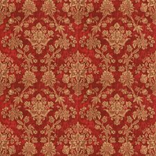 Cranberry Jacobean Decorator Fabric by Vervain