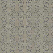 Cobalt Embroidery Decorator Fabric by Fabricut