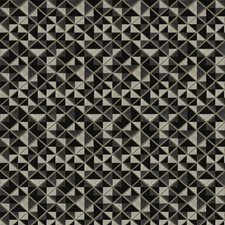 Noir Geometric Decorator Fabric by Fabricut