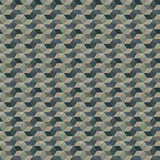 Ocean Geometric Decorator Fabric by Fabricut