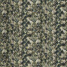 Blue Amber Geometric Decorator Fabric by S. Harris