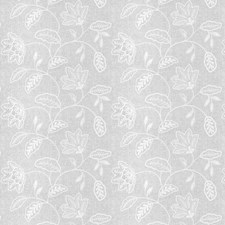 Snowflake Embroidery Decorator Fabric by Stroheim
