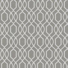 Gray Lattice Decorator Fabric by Trend