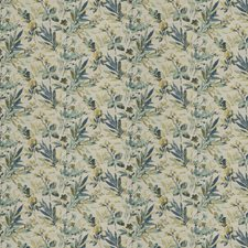 Azure Floral Decorator Fabric by Fabricut