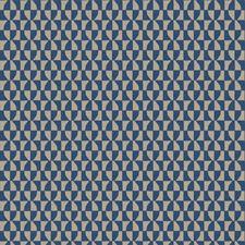 Cobalt Geometric Decorator Fabric by Fabricut