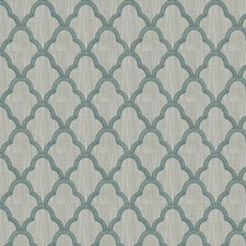 Teal Embroidery Decorator Fabric by Trend