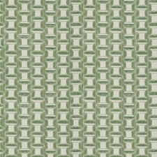 Kelly Green Geometric Decorator Fabric by Fabricut