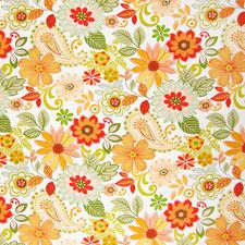 Tiger Lily Floral Decorator Fabric by Greenhouse