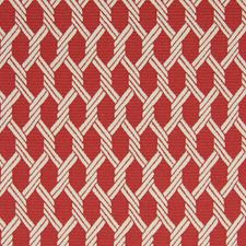 Red Snapper Geometric Decorator Fabric by Greenhouse