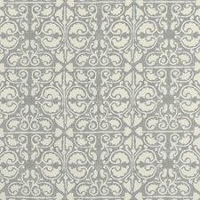 Grey/White/Light Grey Geometric Decorator Fabric by Kravet