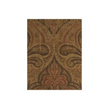Rust Paisley Decorator Fabric by Andrew Martin