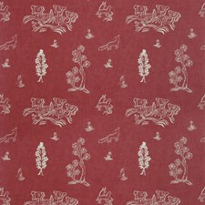 Huntsman Red Novelty Decorator Fabric by Andrew Martin