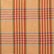 Pumpkin Plaid Decorator Fabric by Lee Jofa