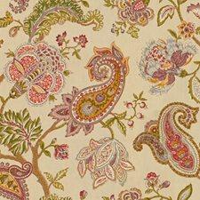 Beige/Purple/Green Paisley Decorator Fabric by Kravet