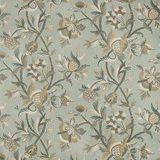 Light Green/Beige/Slate Botanical Decorator Fabric by Kravet