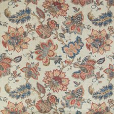 Vintage Red Floral Decorator Fabric by Greenhouse