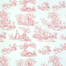 Scarlet Toile Decorator Fabric by Greenhouse