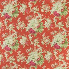 Crimson Floral Decorator Fabric by Greenhouse