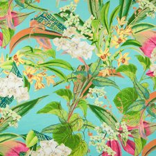 Peacock Tropical Decorator Fabric by Greenhouse