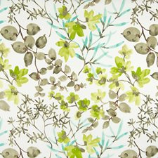 Teal Floral Decorator Fabric by Greenhouse