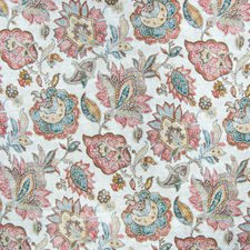 Copper Floral Decorator Fabric by Greenhouse