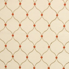 Flower Lattice Decorator Fabric by Greenhouse