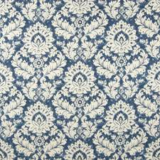 Navy Scroll Decorator Fabric by Greenhouse