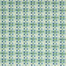 Aqua Geometric Decorator Fabric by Greenhouse