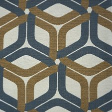 Blue/Brown/Creme Transitional Decorator Fabric by JF