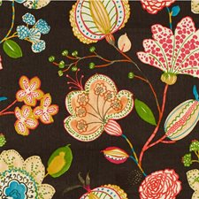 Brown/Pink/Green Botanical Decorator Fabric by Kravet