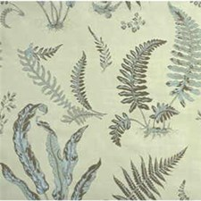 Aqua Botanical Decorator Fabric by G P & J Baker