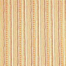Fuchsia/Amber Stripes Decorator Fabric by G P & J Baker