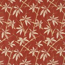 Terracotta Botanical Decorator Fabric by G P & J Baker
