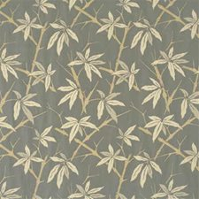 Slate Blue Botanical Decorator Fabric by G P & J Baker