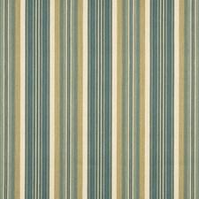 Beige/Green Stripes Decorator Fabric by G P & J Baker