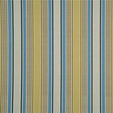 Teal/Green Stripes Decorator Fabric by G P & J Baker