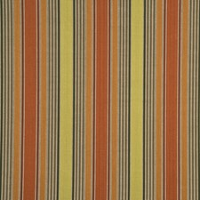 Coral/Green Stripes Decorator Fabric by G P & J Baker