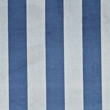 Blue/Teal Stripes Decorator Fabric by G P & J Baker