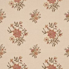Antique/Rose Embroidery Decorator Fabric by G P & J Baker