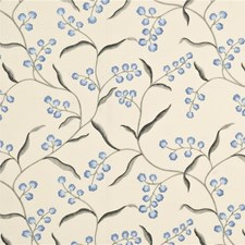 Indigo/Silver Embroidery Decorator Fabric by G P & J Baker