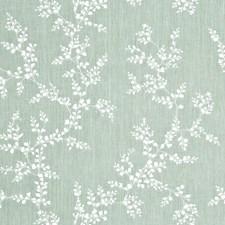 Aqua Botanical Decorator Fabric by G P & J Baker