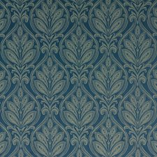 Royal Blue Damask Decorator Fabric by G P & J Baker