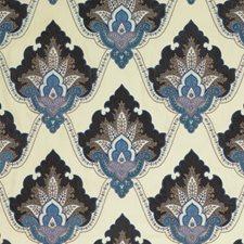 Indigo Embroidery Decorator Fabric by G P & J Baker
