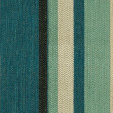 Blue/Aqua Stripes Decorator Fabric by G P & J Baker