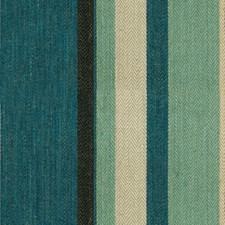 Blue/Aqua Stripes Decorator Fabric by G P & J Baker
