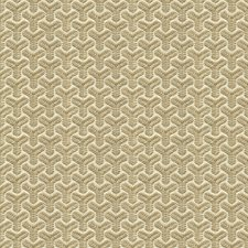Oyster/Ivory Geometric Decorator Fabric by G P & J Baker