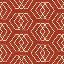 Sand/Red Geometric Decorator Fabric by G P & J Baker